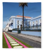 Presidential Palace - Azores Fleece Blanket