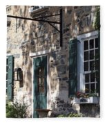 Pretty Brick Building And Flower Boxes Fleece Blanket