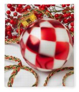 Pretty Christmas Ornament Fleece Blanket