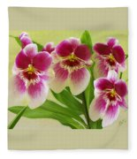 Pretty Faces - Orchid Fleece Blanket