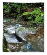 Pretty Green Creek Fleece Blanket
