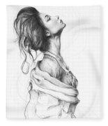 Pretty Lady Fleece Blanket