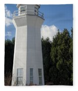Pretty Lighthouse In Decatur Alabama  Fleece Blanket
