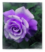 Pretty Lilac Rose Fleece Blanket