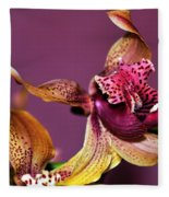 Pretty Orchid On Pink Fleece Blanket