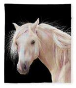 Pretty Palomino Pony Painting Fleece Blanket