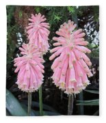 Pretty Pink Forest Lily Fleece Blanket