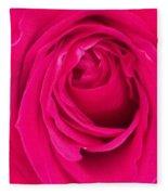 Pretty Red Rose  Fleece Blanket