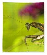 Preying Mantis Fleece Blanket