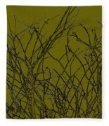 Prickly Branches Fleece Blanket