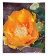 Prickly Pear Blossom Fleece Blanket