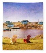 Primary Chairs - Digital Art Fleece Blanket