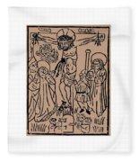 Primitive Crucifixion Fleece Blanket