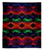 Primitive Textured Shapes Fleece Blanket