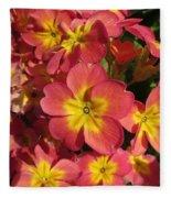 Primrose Flowers Fleece Blanket