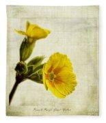 Primula Pacific Giant Yellow Fleece Blanket
