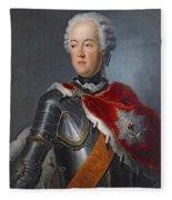 Prince Augustus William Oil On Canvas Fleece Blanket