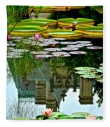 Prince Charmings Lily Pond Fleece Blanket