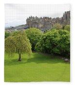 Princes Street Gardens 6480 Fleece Blanket