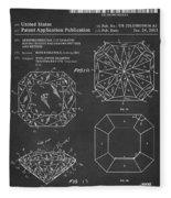 Princess Cut Diamond Patent Barcode Gray Fleece Blanket