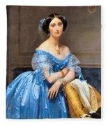 Princesse Albert De Broglie Nee Josephine Eleonare Marie Pauline De Galard De Brassac De Bearn Fleece Blanket