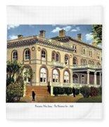 Princeton New Jersey - The Princeton Inn - 1925 Fleece Blanket
