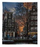 Prinsengracht 743. Amsterdam Fleece Blanket