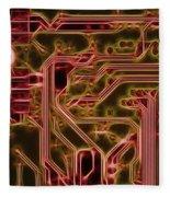 Printed Circuit - Motherboard Fleece Blanket