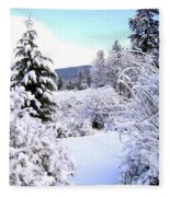 Pristine Winter Trail Fleece Blanket