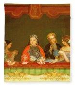 Private Box, Drury Lane, 1837 Fleece Blanket