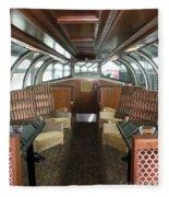 Private Dome Rail Car  Fleece Blanket