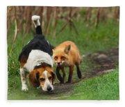 Probably The World's Worst Hunting Dog Fleece Blanket