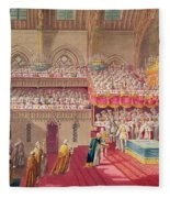 Procession Of The Dean And Prebendaries Of Westminster Bearing The Regalia, From An Album Fleece Blanket