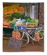 Produce Market In Corbridge Fleece Blanket