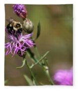 Productive Bee Fleece Blanket