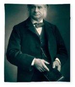 Professor Thomas H Huxley Fleece Blanket