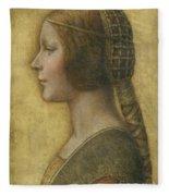 Profile Of A Young Fiancee Fleece Blanket