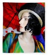 Profile Of Penelope Fleece Blanket
