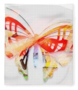 Profound Thought Butterfly Fleece Blanket