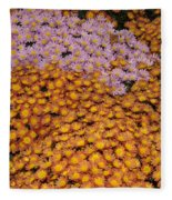 Profusion In Yellows Pinks And Oranges Fleece Blanket