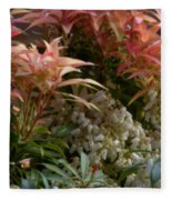 Profusion Of Floral Beauty Fleece Blanket