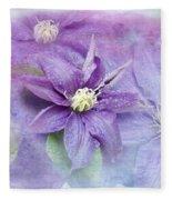 Profusion Of Purple Fleece Blanket
