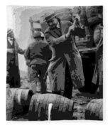 Federal Prohibition Agents Destroy Liquor 1923 Fleece Blanket