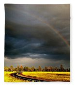 Promise On The Mother Road Rt 66 Flagstaff Az Fleece Blanket