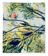 Protea Repens Maui Hawaii Sugarbush Fleece Blanket