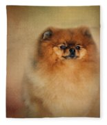 Proud Pomeranian Fleece Blanket