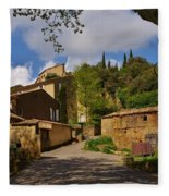 Provencal Village Fleece Blanket