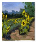 Provence Sunflower Field Fleece Blanket
