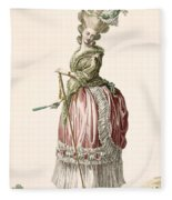 Provencial Style Ladys Walking Gown Fleece Blanket