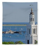 Provincetown Steeple Fleece Blanket